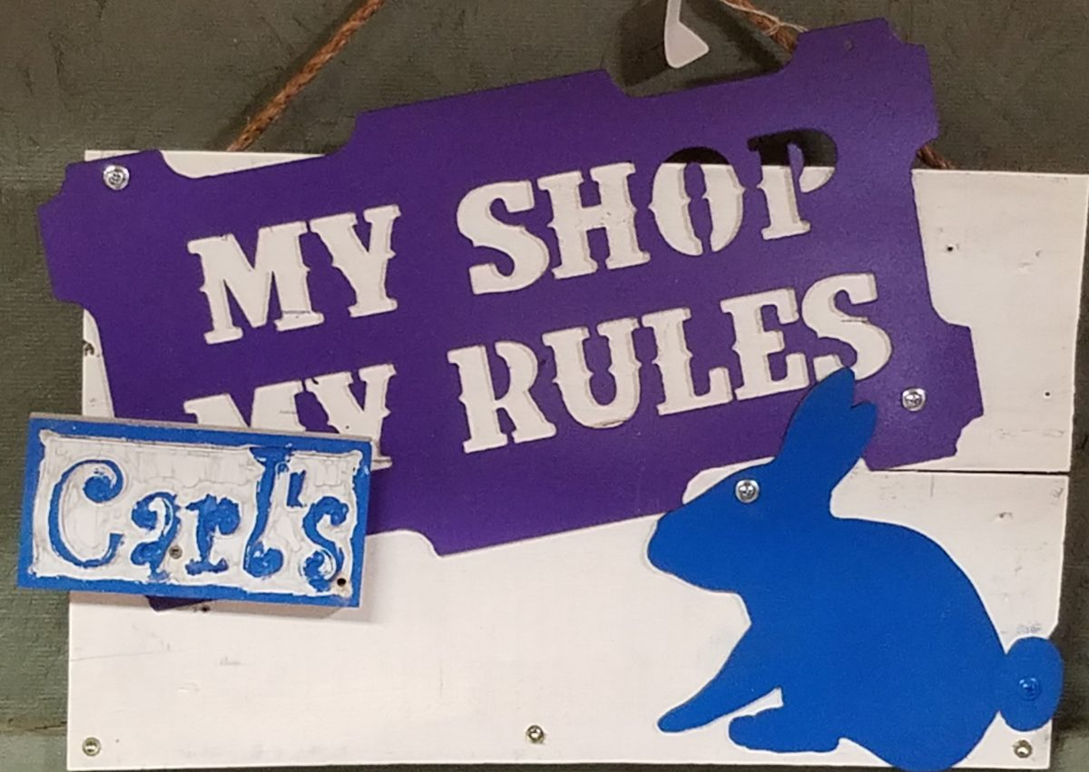 My Shop Carl's Rules